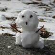 てのひら雪だるま